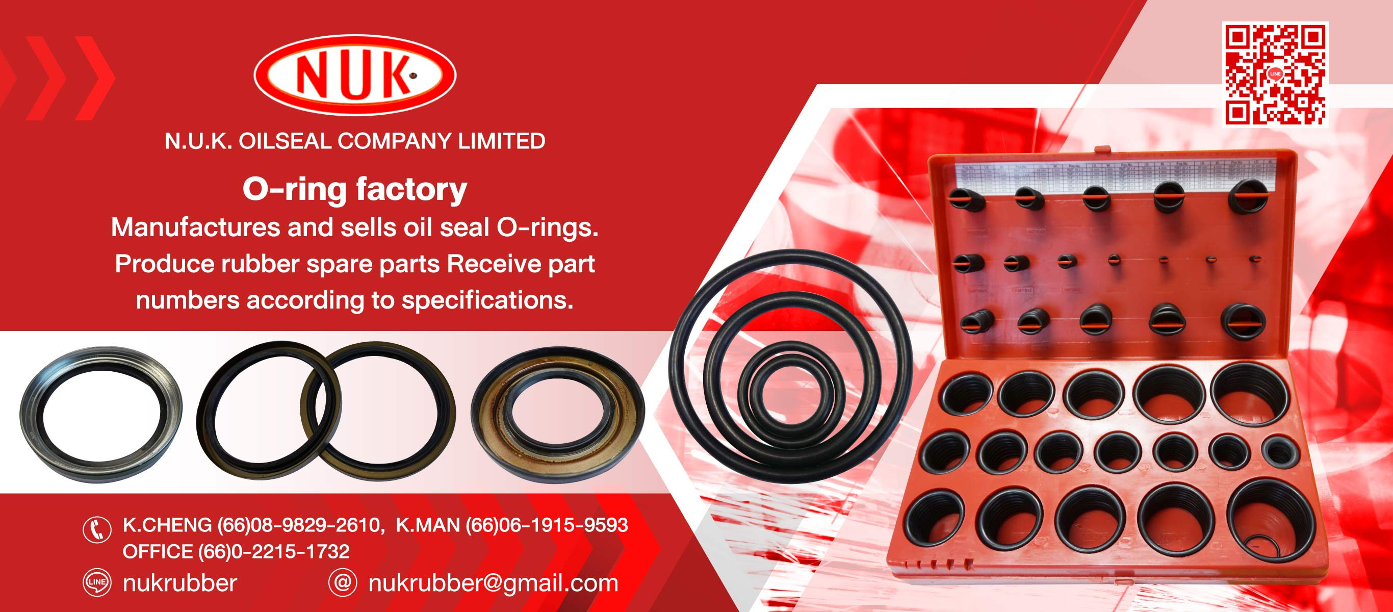 N.U.K.OILSEAL O ring Factory